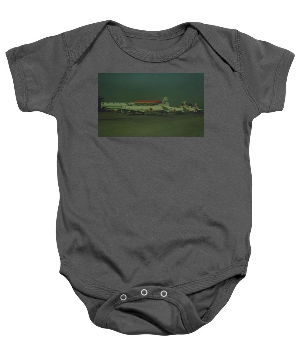 Airplane Baby Onesie featuring the photograph Japanese Airforce by Rob Hans