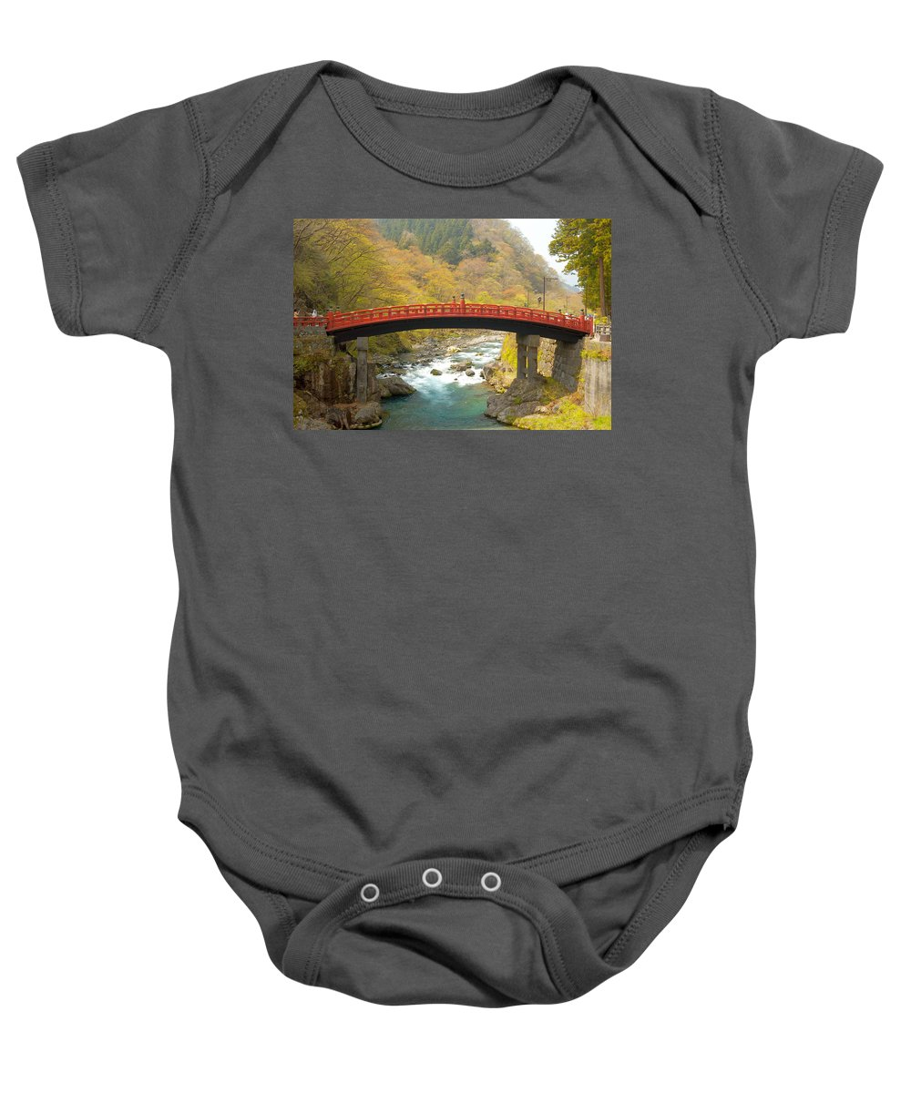 Japan Baby Onesie featuring the photograph Japanese Bridge by Sebastian Musial