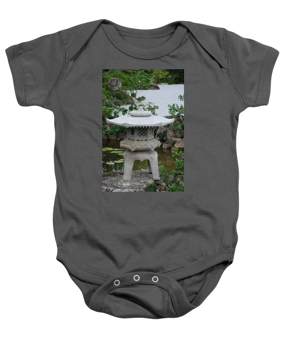 Rocks Baby Onesie featuring the photograph Japanese Lantern by Rob Hans
