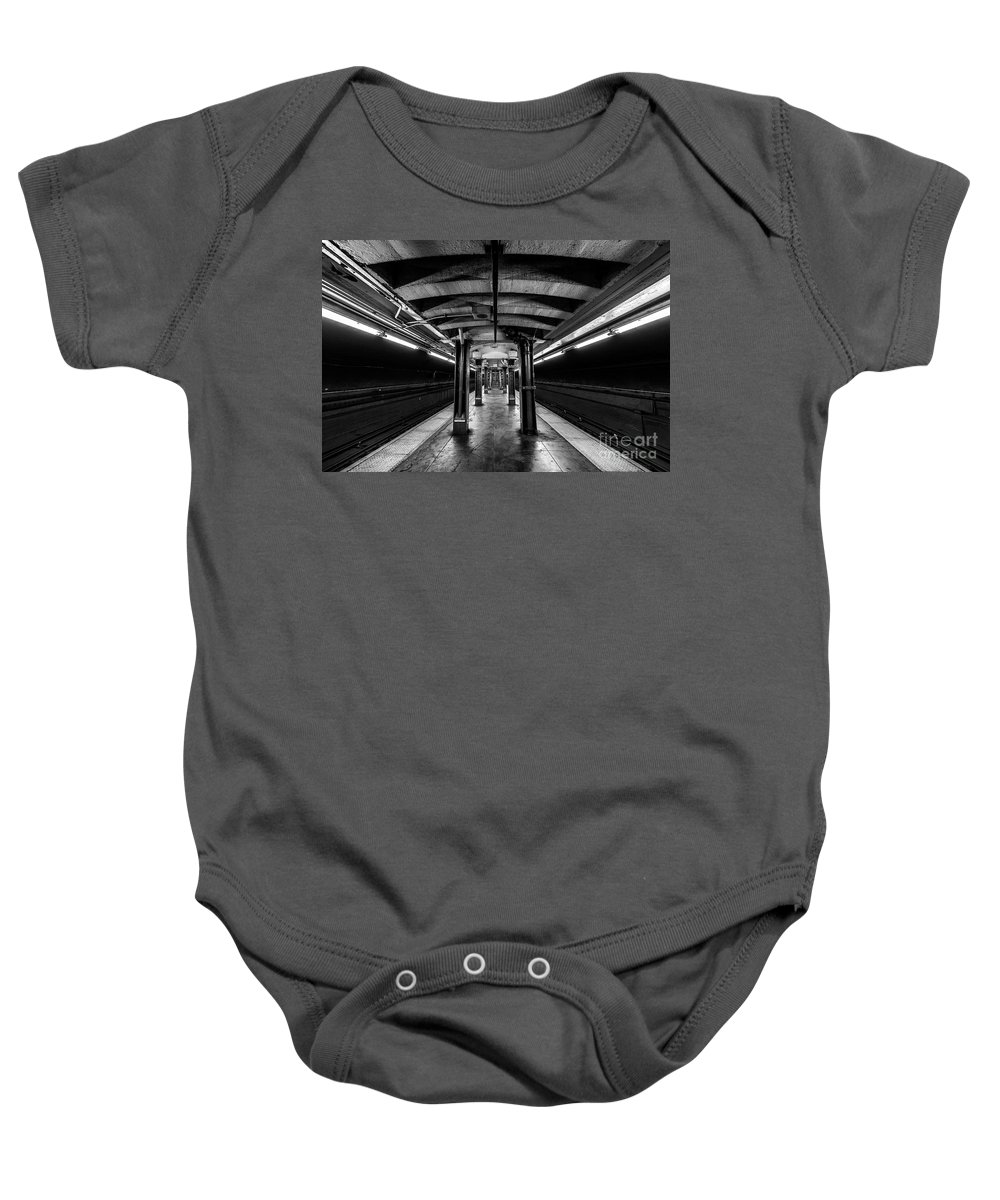Symmetry Baby Onesie featuring the photograph Jay Street Metrotech, Brooklyn New York by Edi Chen