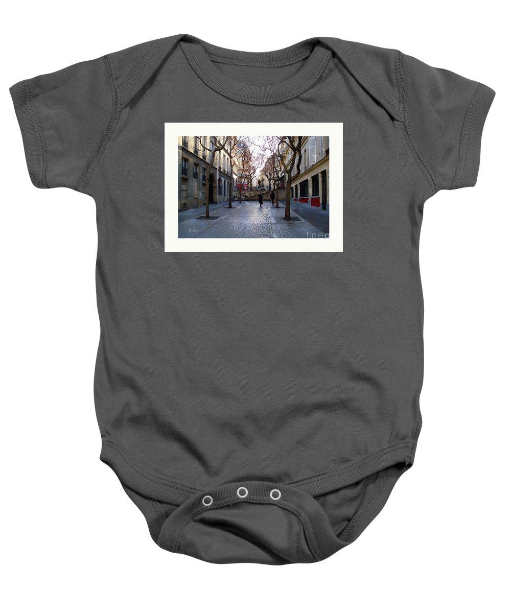 Paris Baby Onesie featuring the photograph Jean Beauvais Paris Couple Walking by Felipe Adan Lerma