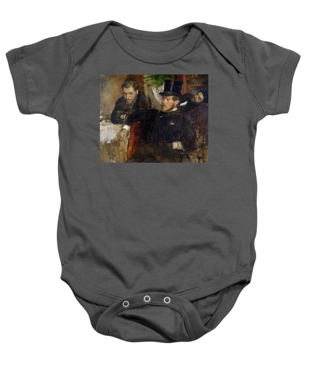 Edgar Degas Baby Onesie featuring the painting Jeantaud Linet And Laine by Edgar Degas
