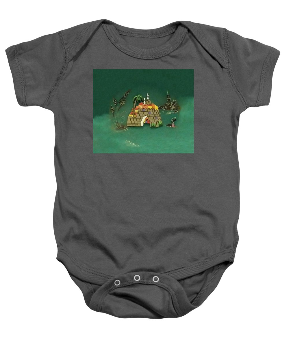Jerusalem Baby Onesie featuring the photograph Jerusalem Israel O by Rob Hans