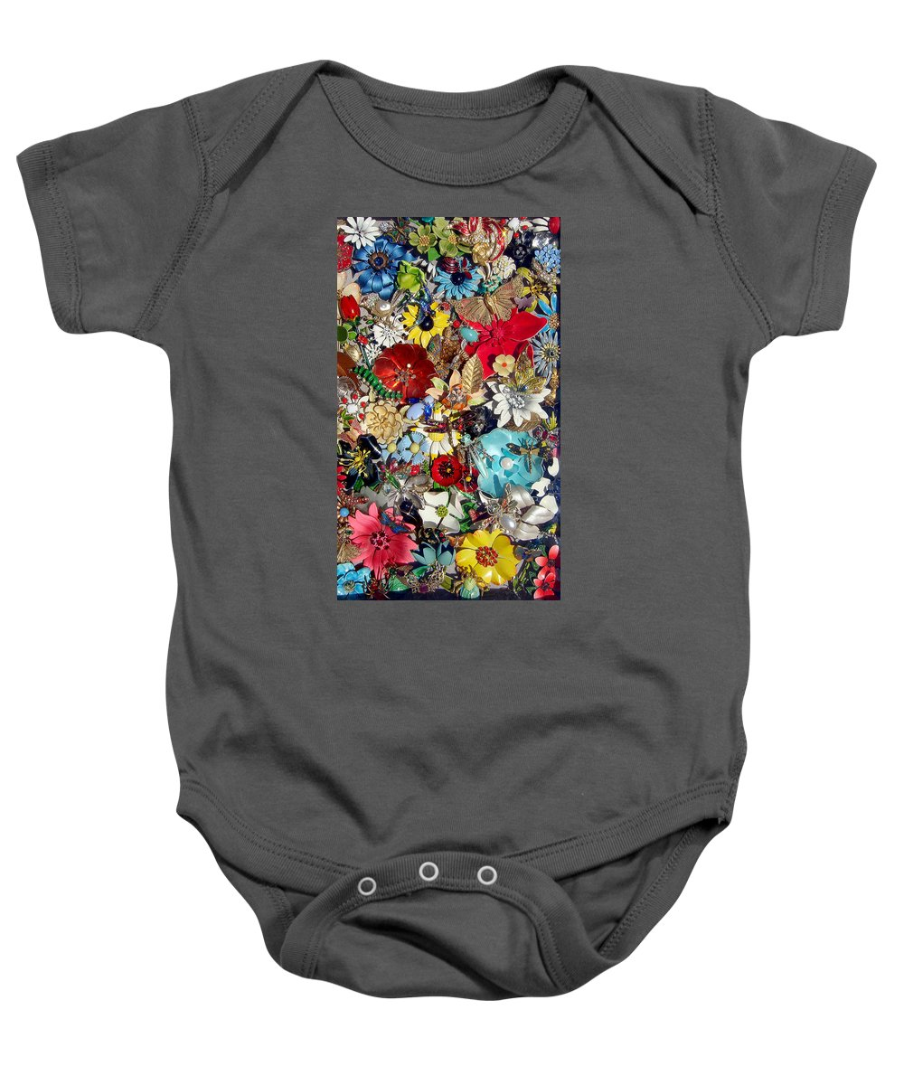 Jewel Baby Onesie featuring the photograph Jeweled Garden by Donna Blackhall