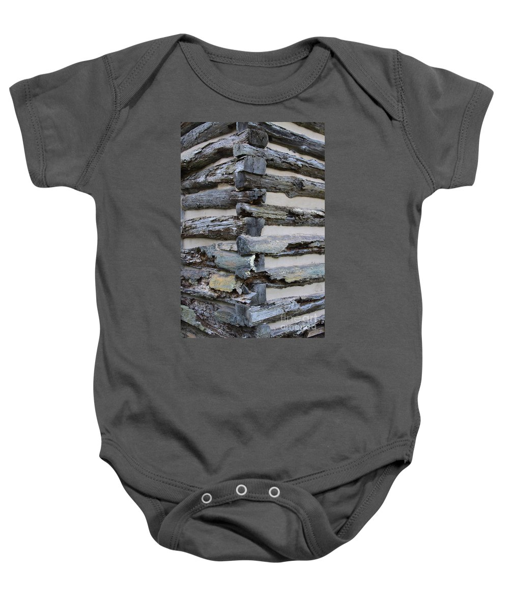 Cabin Baby Onesie featuring the photograph Jiont-ing by Robert Pearson