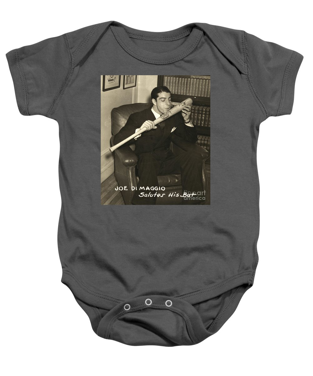 1941 Baby Onesie featuring the photograph Joe Dimaggio (1914-1999) by Granger