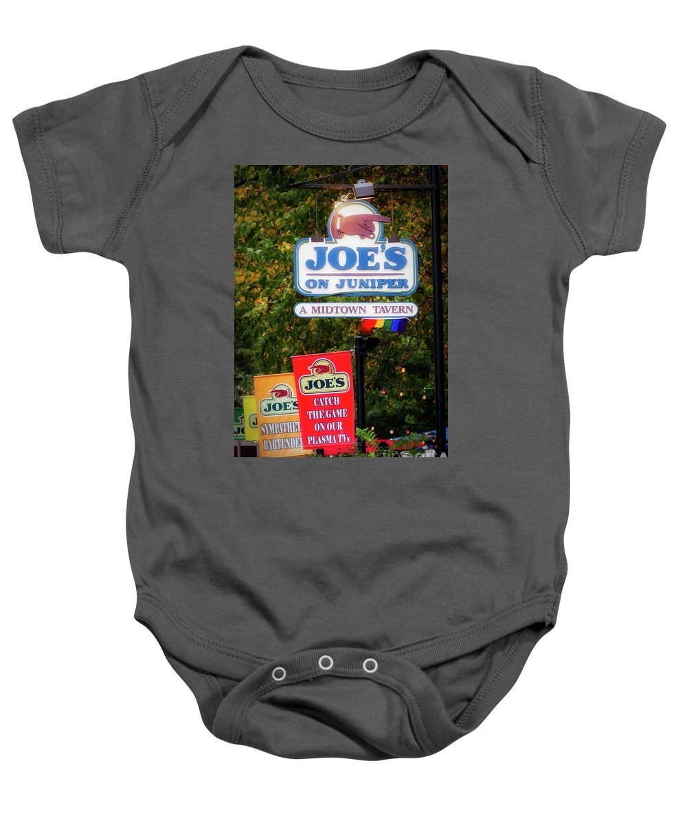 Joe's On Juniper Baby Onesie featuring the photograph Joe's On Juniper by Doug Sturgess