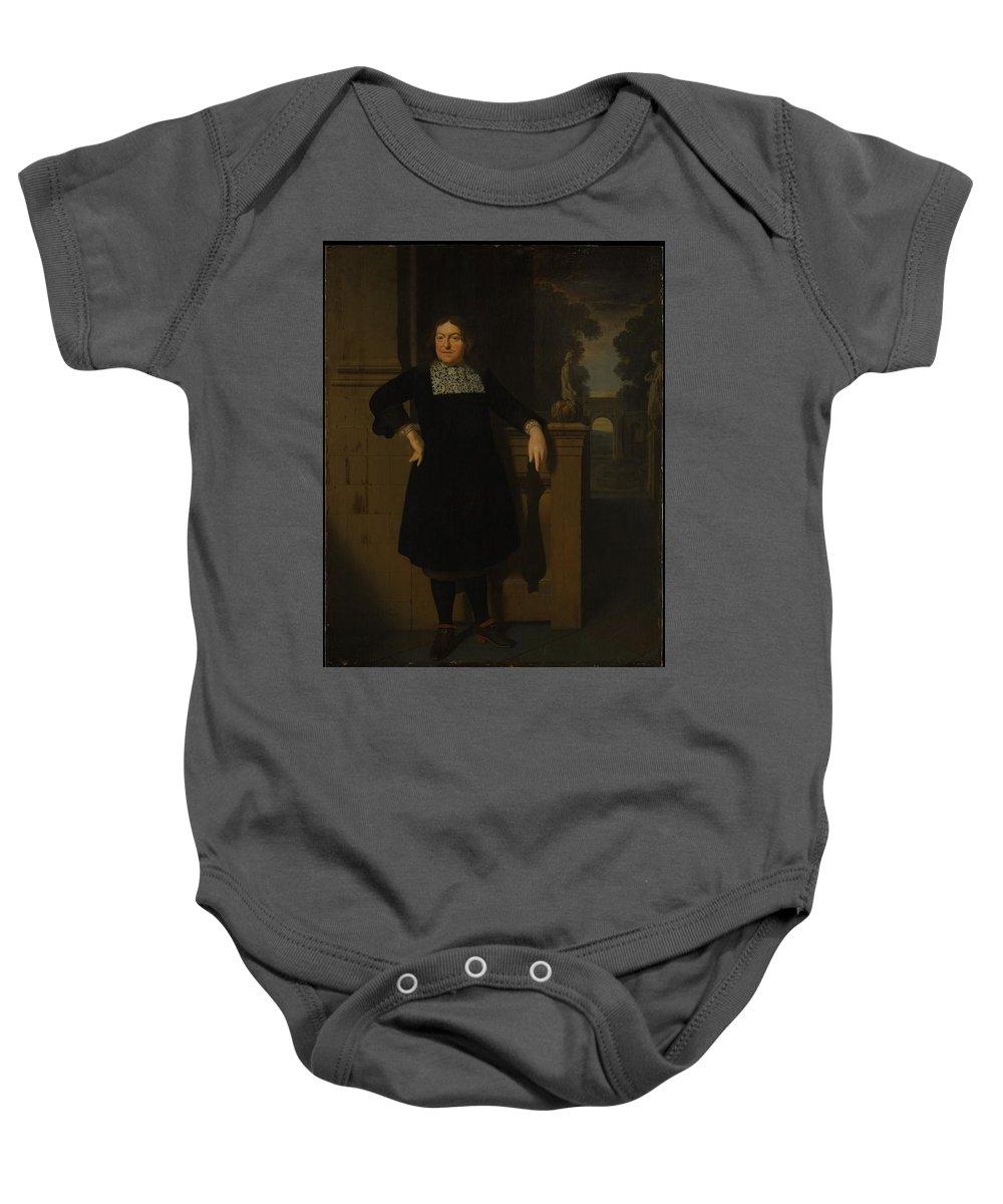 Pieter Van Slingelandt Johan Hulshout 16231687 Baby Onesie featuring the painting Johan Hulshout 16231687 by Pieter van Slingelandt