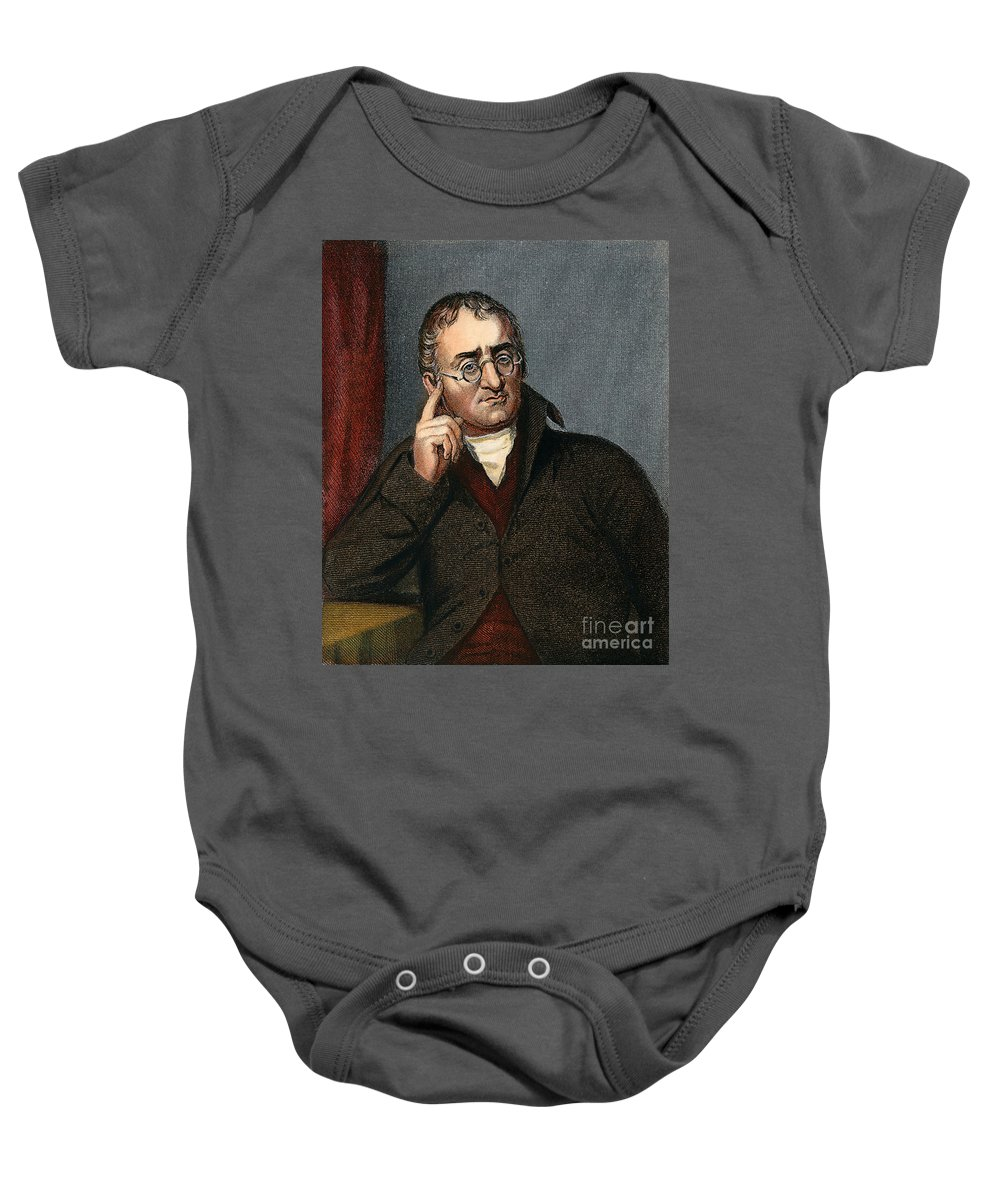 19th Century Baby Onesie featuring the drawing John Dalton - To License For Professional Use Visit Granger.com by Granger