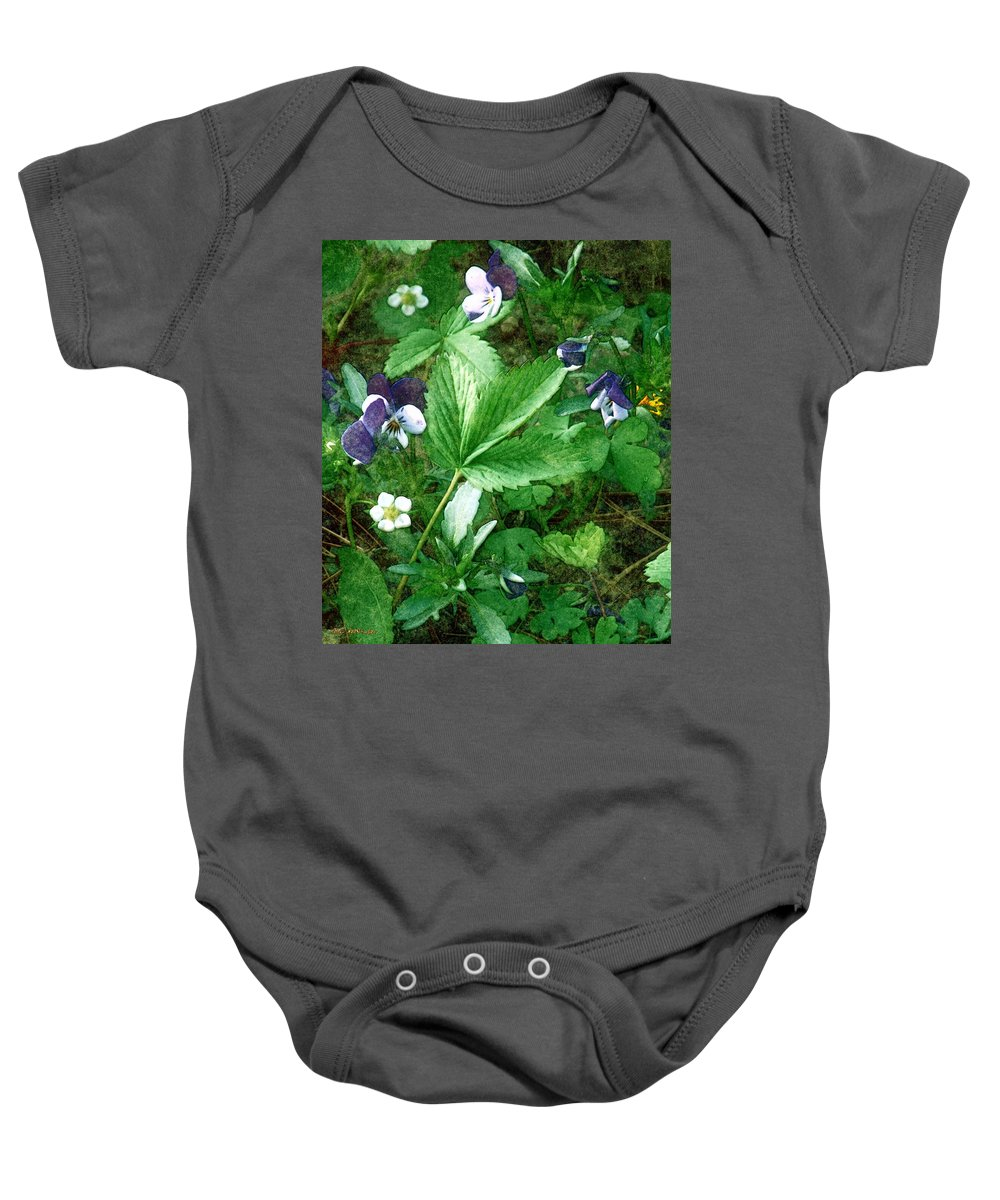 Colorado Baby Onesie featuring the painting Johnnies Jump Up by RC DeWinter