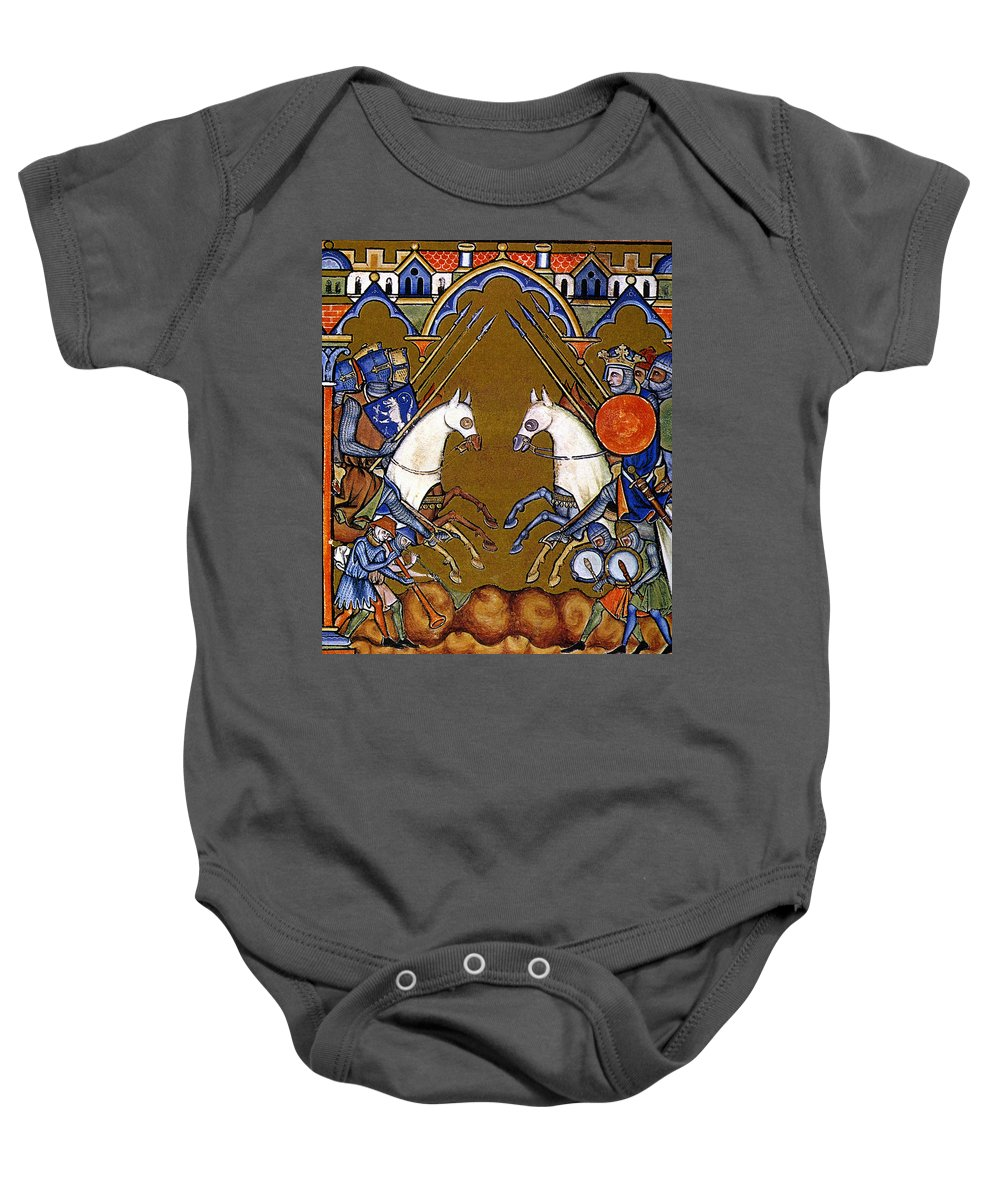 1250 Baby Onesie featuring the photograph Joshua In Combat by Granger