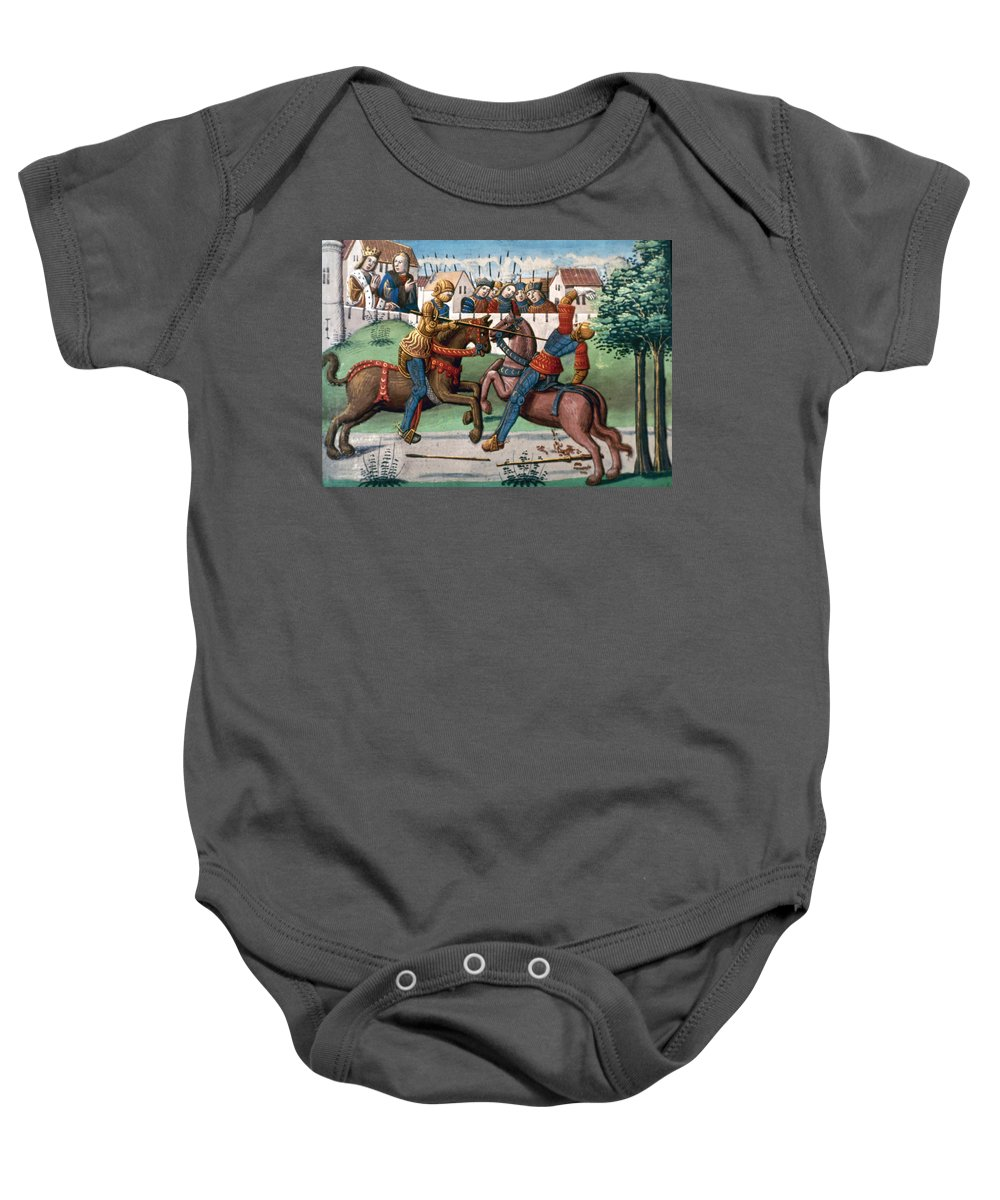 1499 Baby Onesie featuring the photograph Jousting Knights, 1499 by Granger