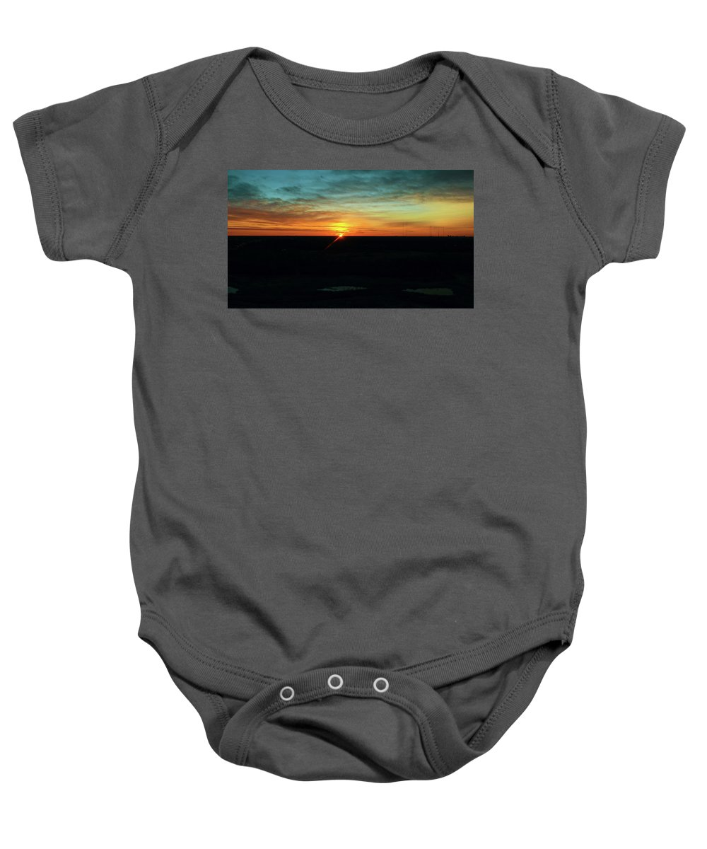 Sunrise Baby Onesie featuring the photograph Sunrise by Steve Bell