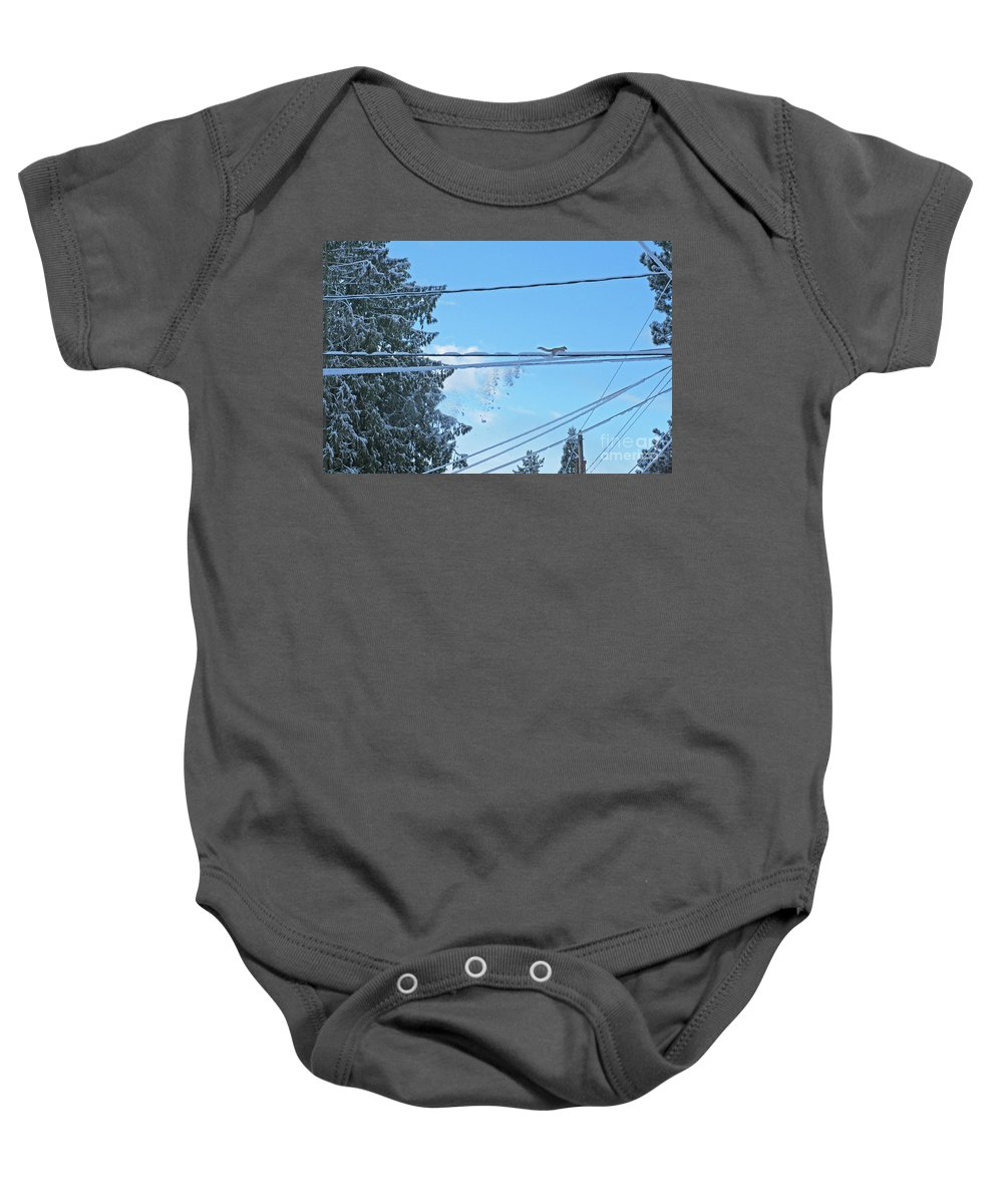 Landscape Baby Onesie featuring the photograph Jump Little Guy by Marcel Stevahn