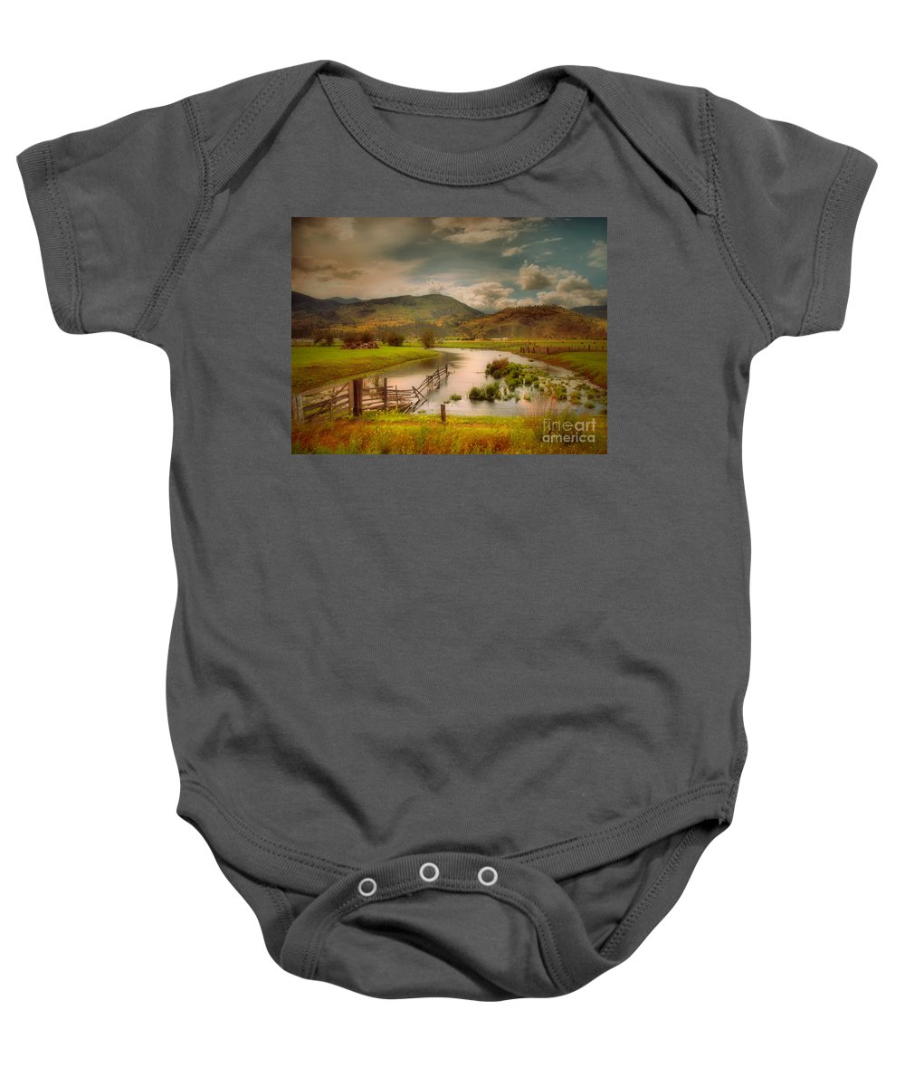 Landscape Baby Onesie featuring the photograph June 1 2010 by Tara Turner