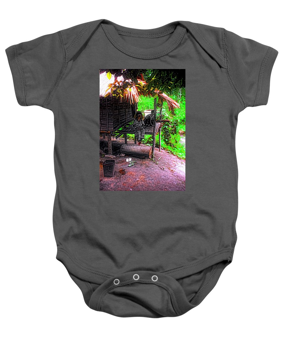 Couple Baby Onesie featuring the photograph Jungle Life by Steve Harrington