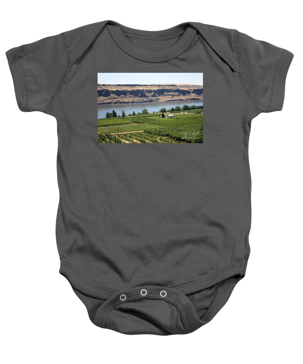 Columbia River Gorge Baby Onesie featuring the photograph Just Add Water... by Carol Groenen
