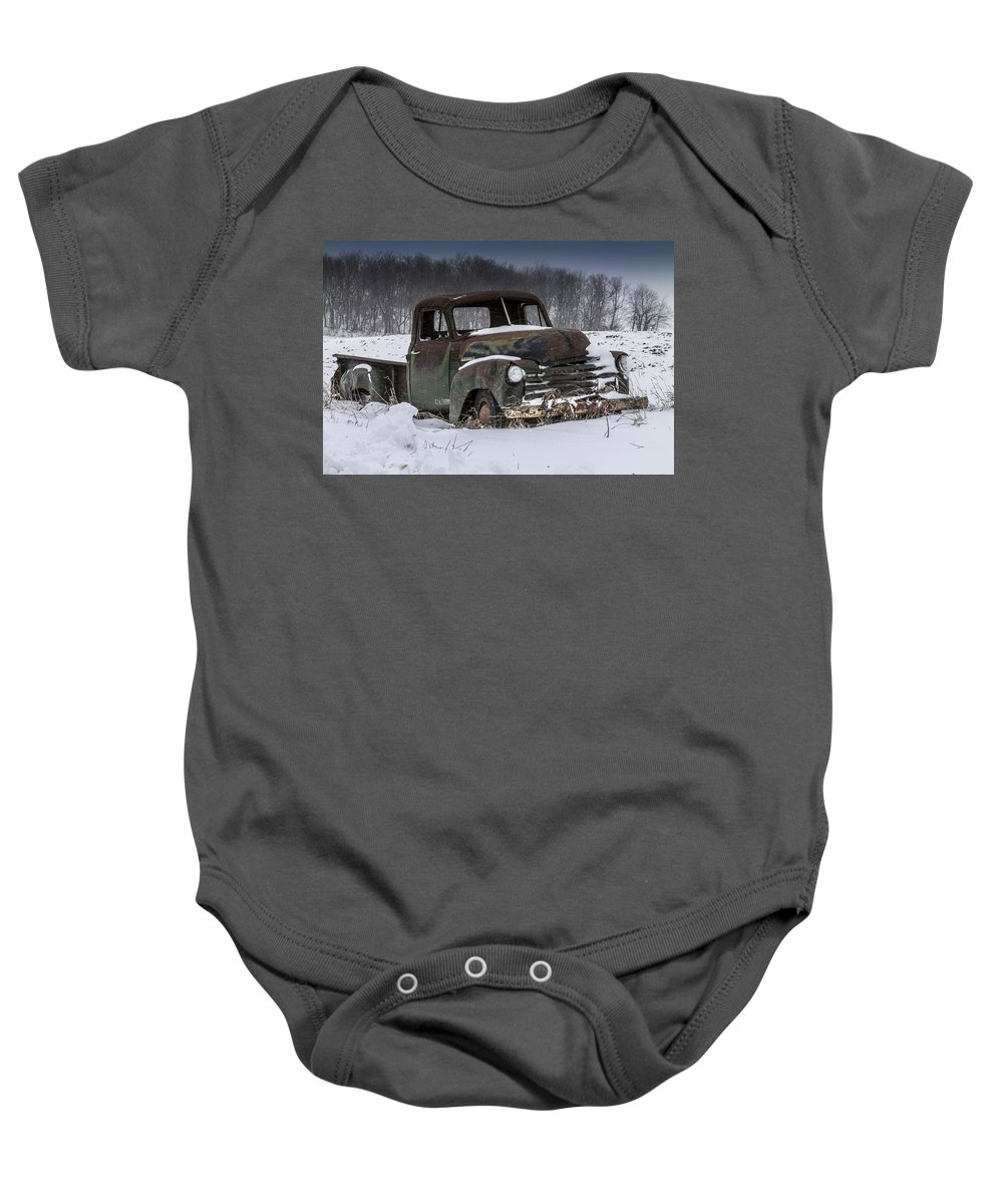 Truck Baby Onesie featuring the photograph Just An Old Pickup Truck by Melinda Martin