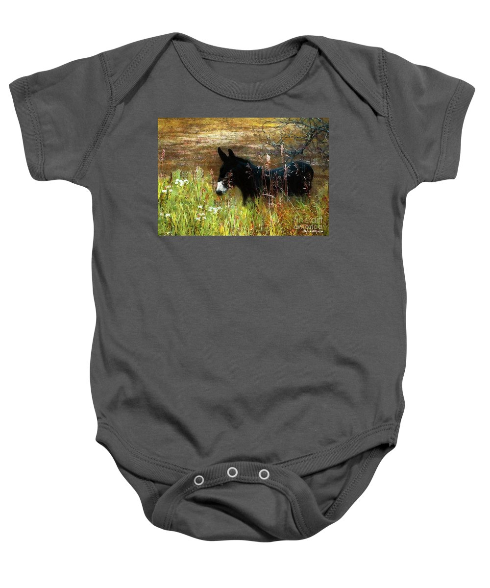 Burro Baby Onesie featuring the painting Just Chillin' by RC DeWinter