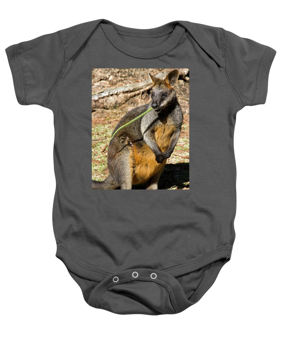 Swamp Baby Onesie featuring the photograph Just Snacking by Miroslava Jurcik
