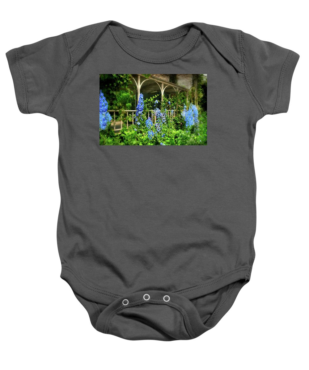 Flowers Baby Onesie featuring the photograph Just The Blues by Diana Angstadt
