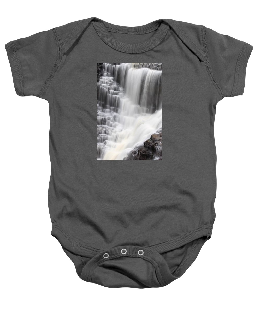Kakabeka Baby Onesie featuring the photograph Kakabeka Falls by Nicholas Miller