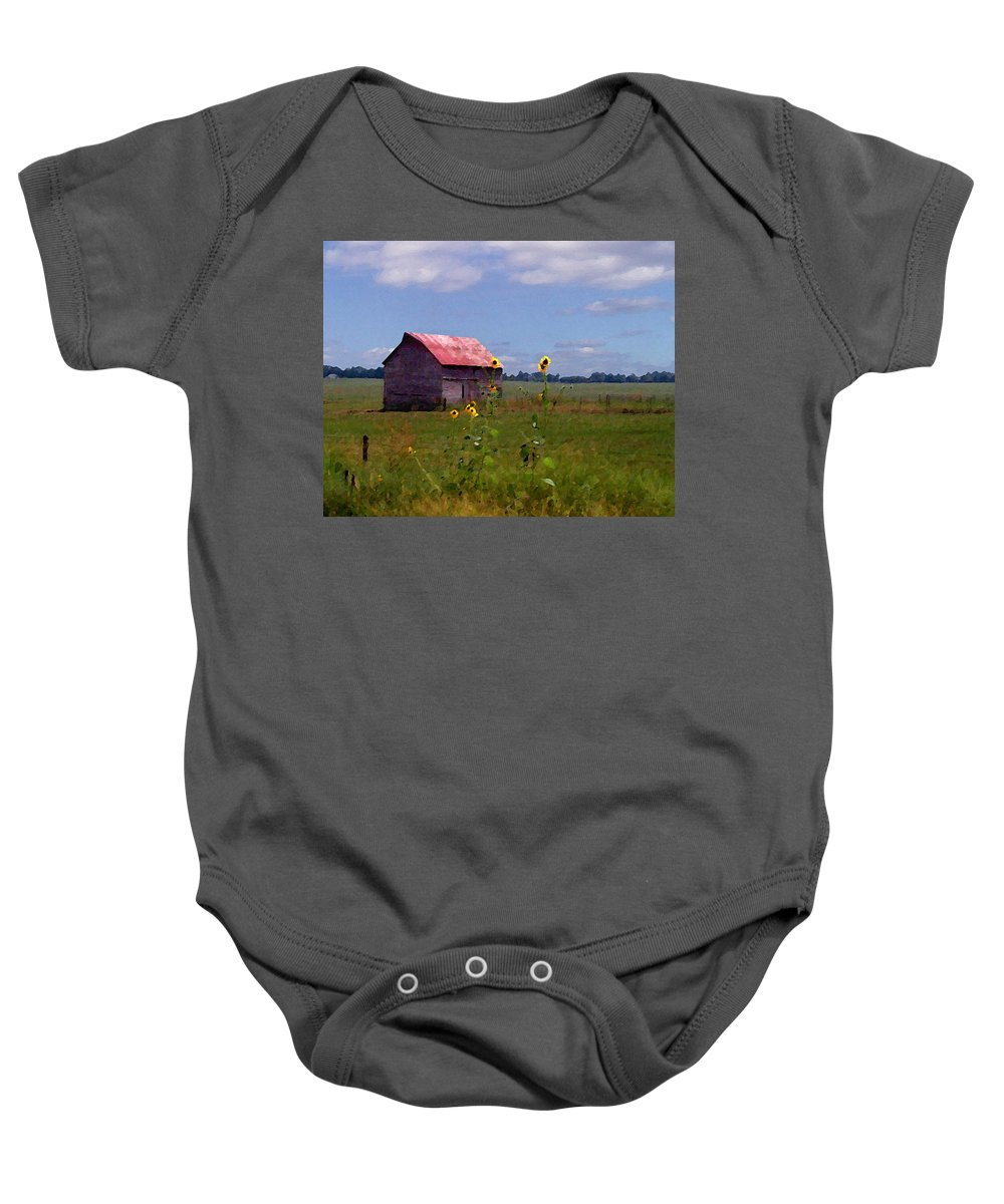 Lanscape Baby Onesie featuring the photograph Kansas Landscape by Steve Karol