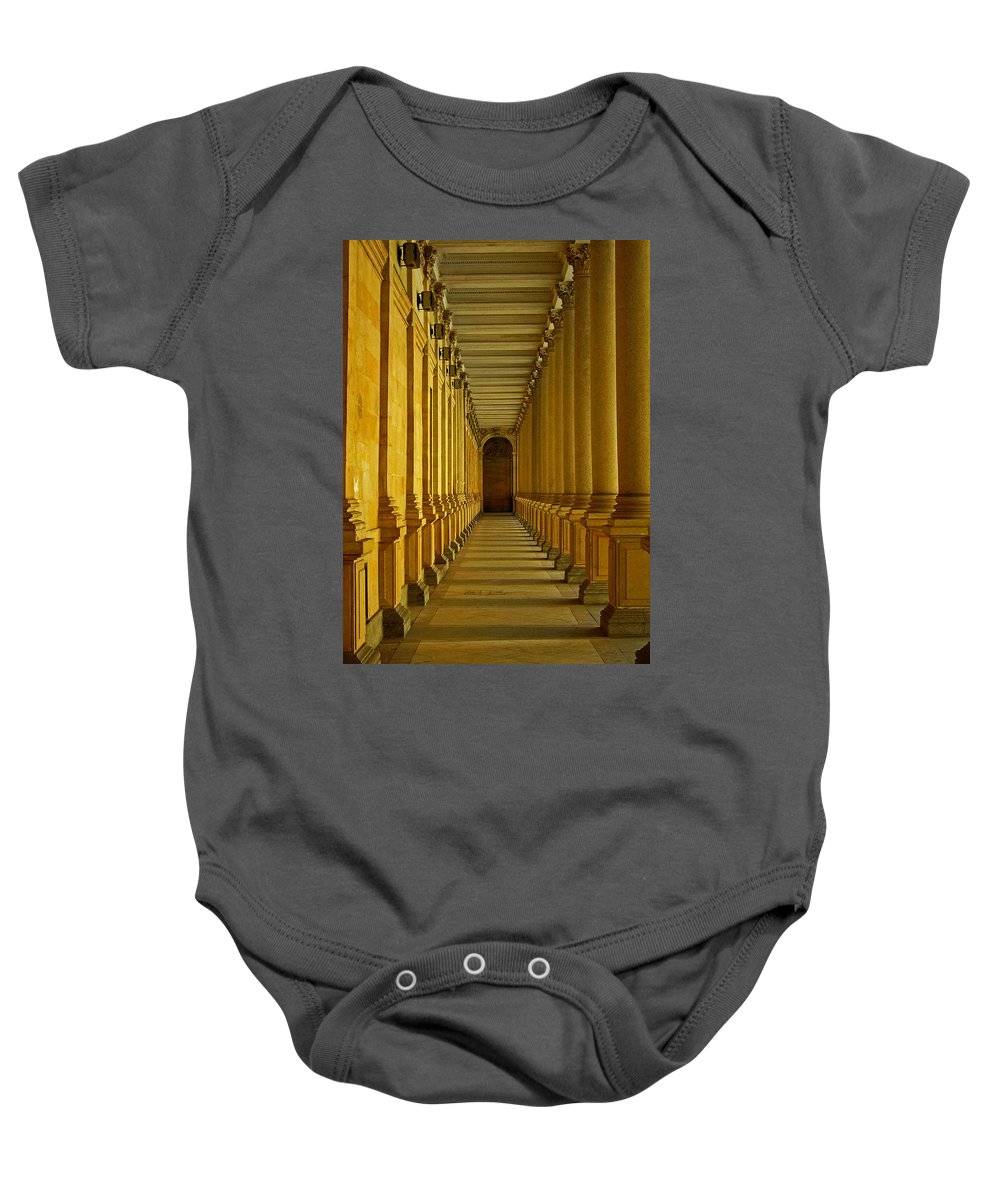 Europe Baby Onesie featuring the photograph Karlovy Vary Colonnade by Juergen Weiss