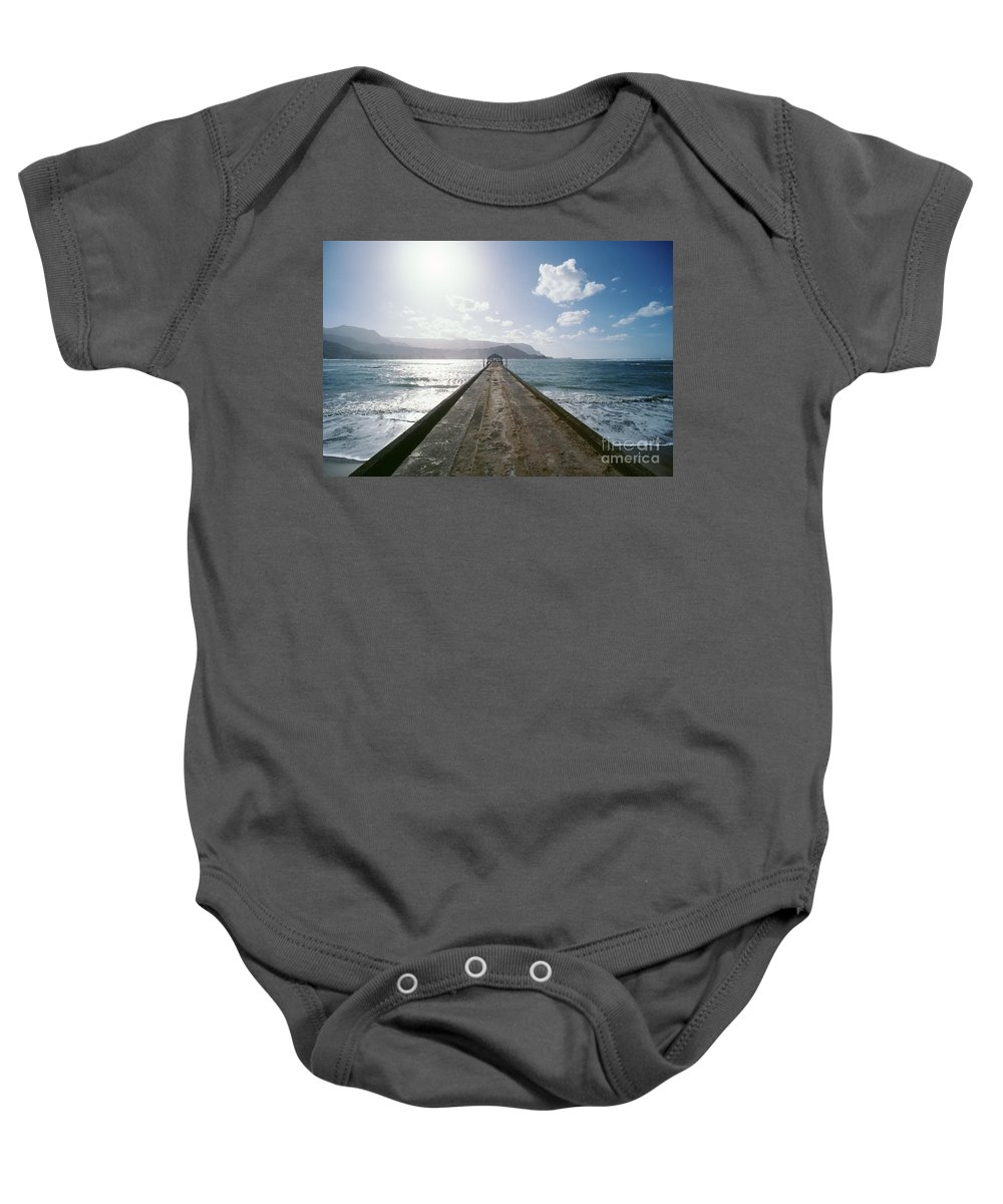 Afternoon Baby Onesie featuring the photograph Kauai, Hanalei Bay by Greg Vaughn - Printscapes