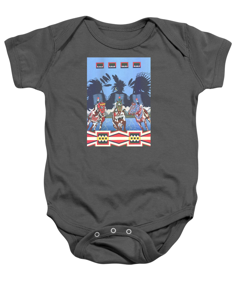 America Baby Onesie featuring the painting Keepers Of The Law by Chholing Taha
