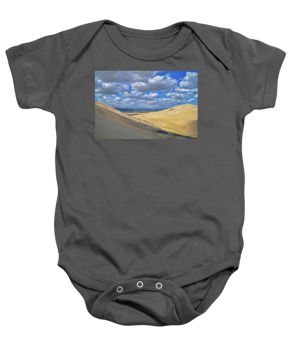 Mojave Desert Baby Onesie featuring the photograph Kelso Sand Dunes by Kyle Hanson