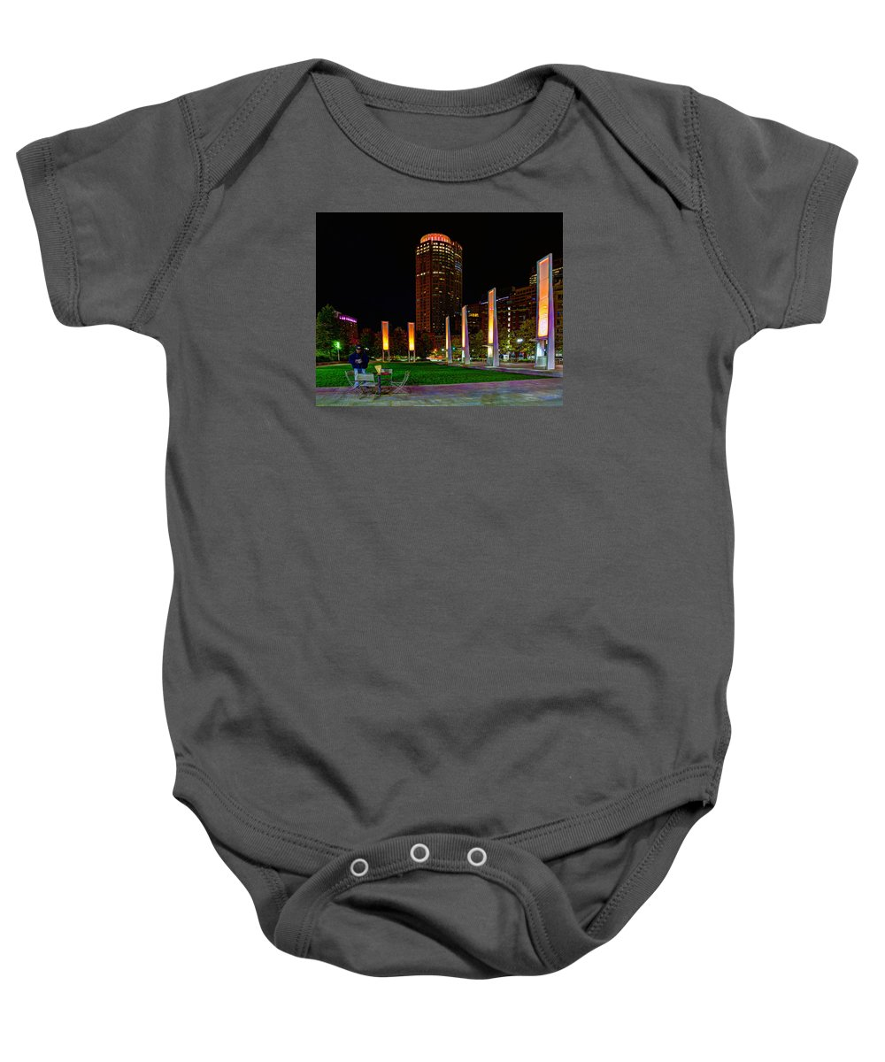 Rose Kennedy Baby Onesie featuring the photograph Kennedy Greenway 2637 by Jeff Stallard