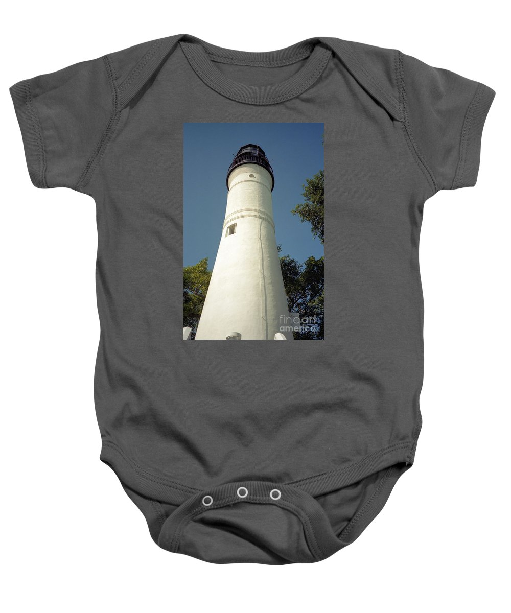 Lighthouses Baby Onesie featuring the photograph Key West Lighthouse by Richard Rizzo