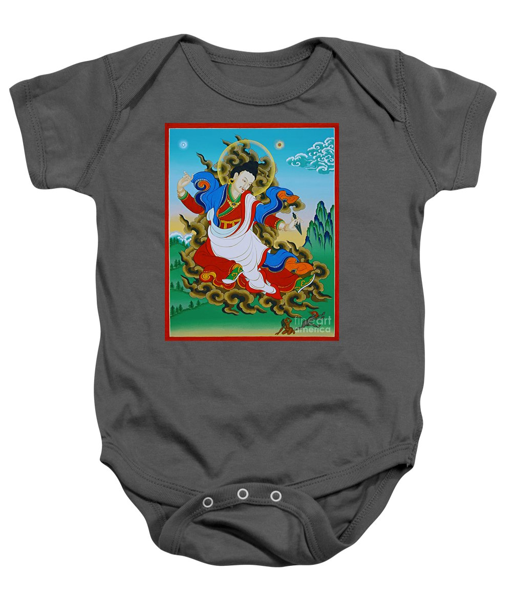 Kharchen Baby Onesie featuring the painting Kharchen Pelgi Wangchuk by Sergey Noskov