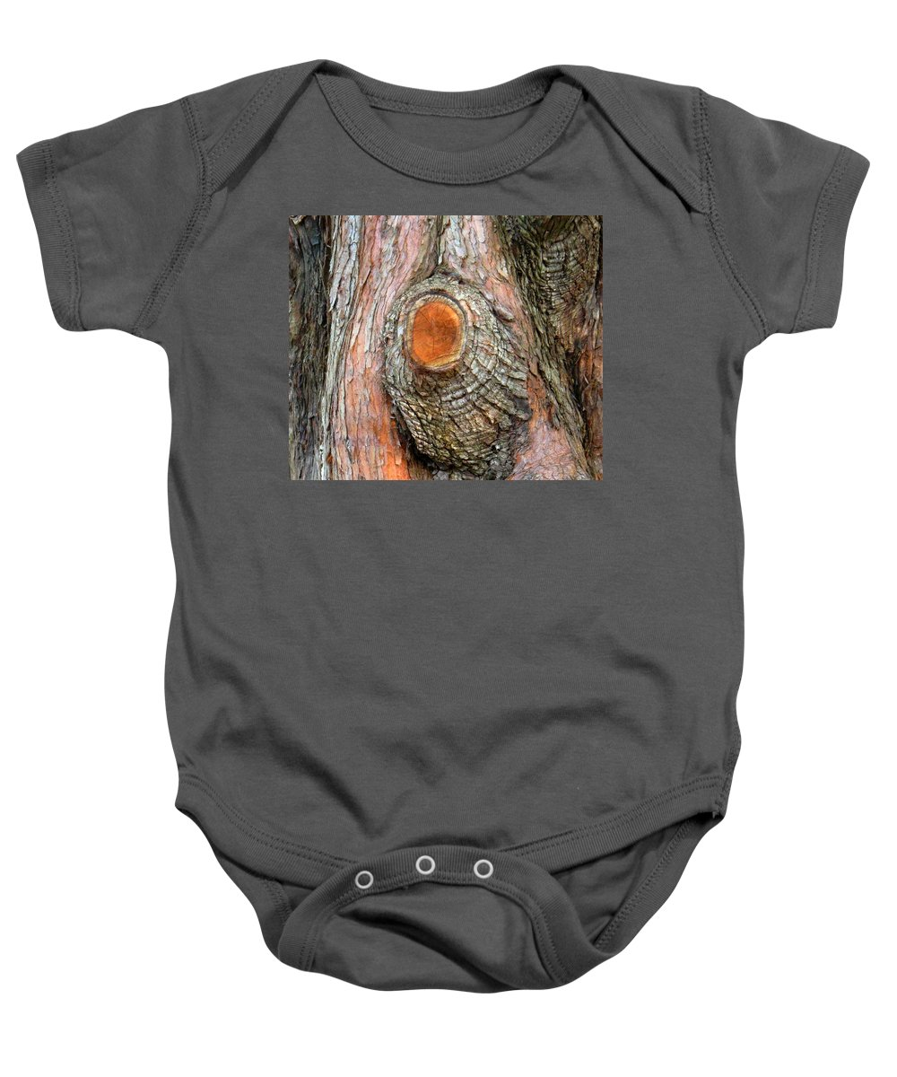 Tree Baby Onesie featuring the photograph Knot by Ian MacDonald