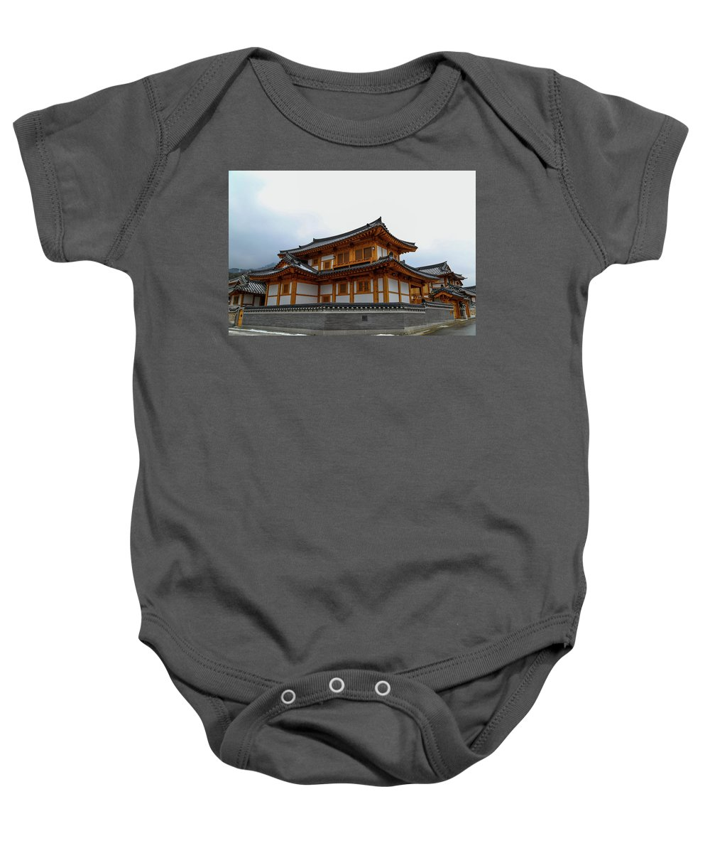 Building Baby Onesie featuring the photograph korean style house II by Hyuntae Kim