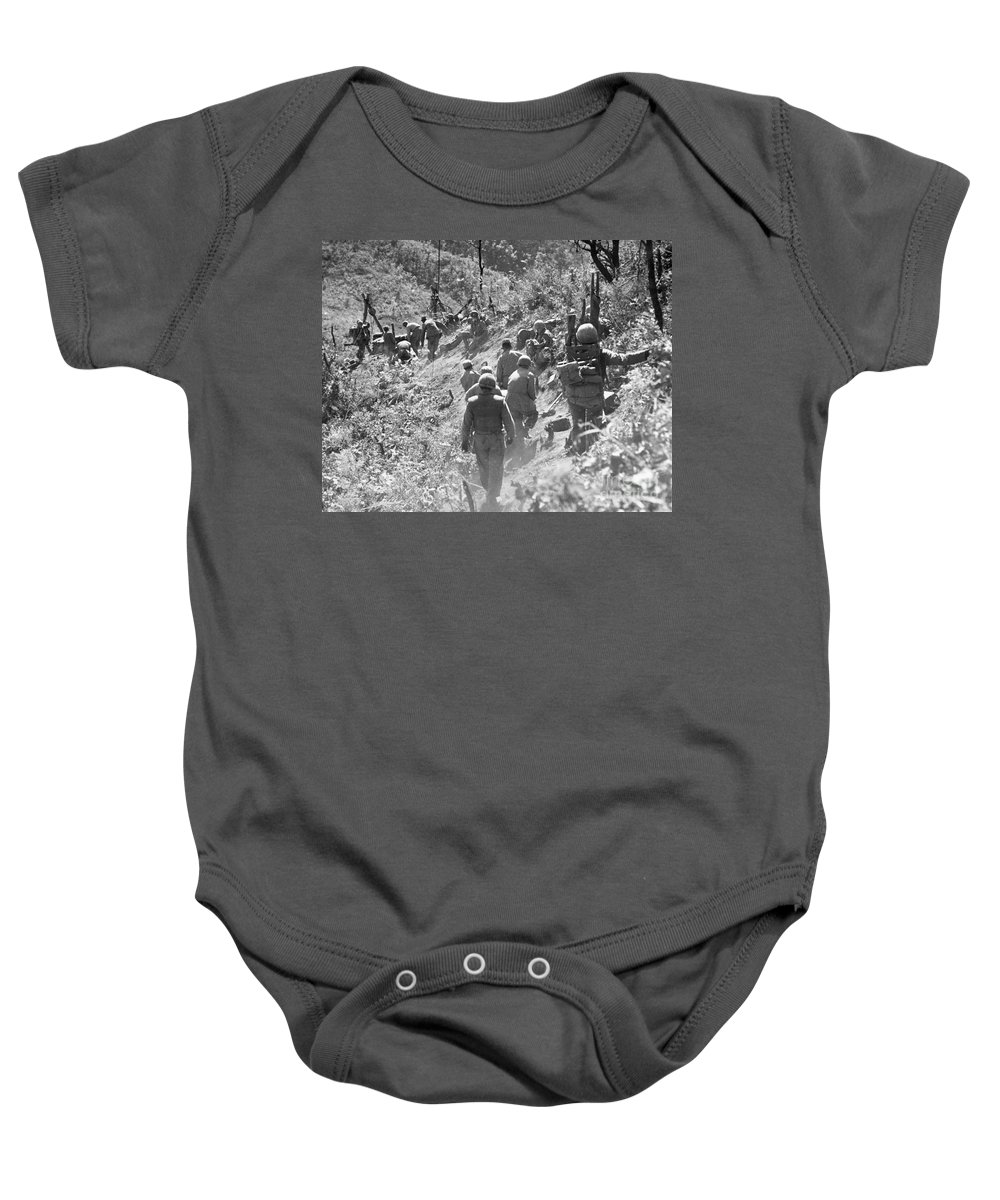1952 Baby Onesie featuring the photograph Korean War: Triangle Hill by Granger