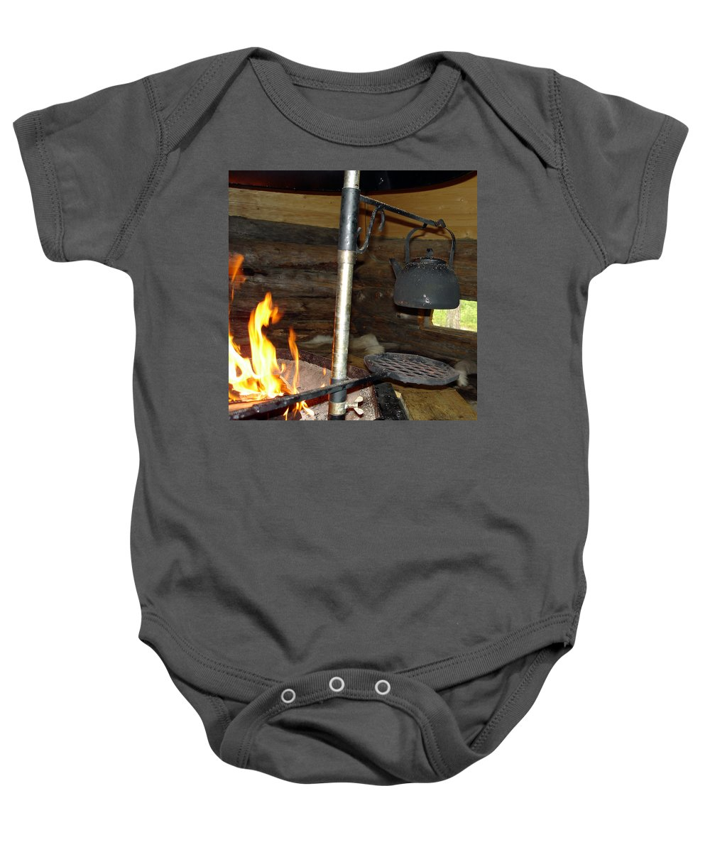 Kota Baby Onesie featuring the photograph Kota Kitchen In Lapland by Merja Waters