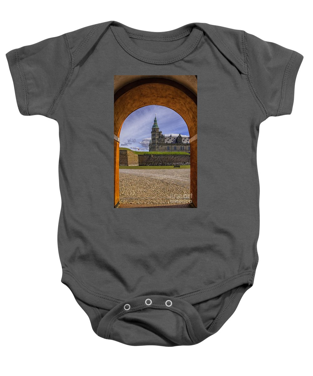 Denmark Baby Onesie featuring the photograph Kronborg Castle Through The Archway by Antony McAulay