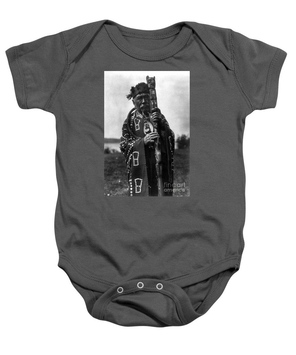 Aod Baby Onesie featuring the photograph Kwakiutl Chief, C1914 by Granger