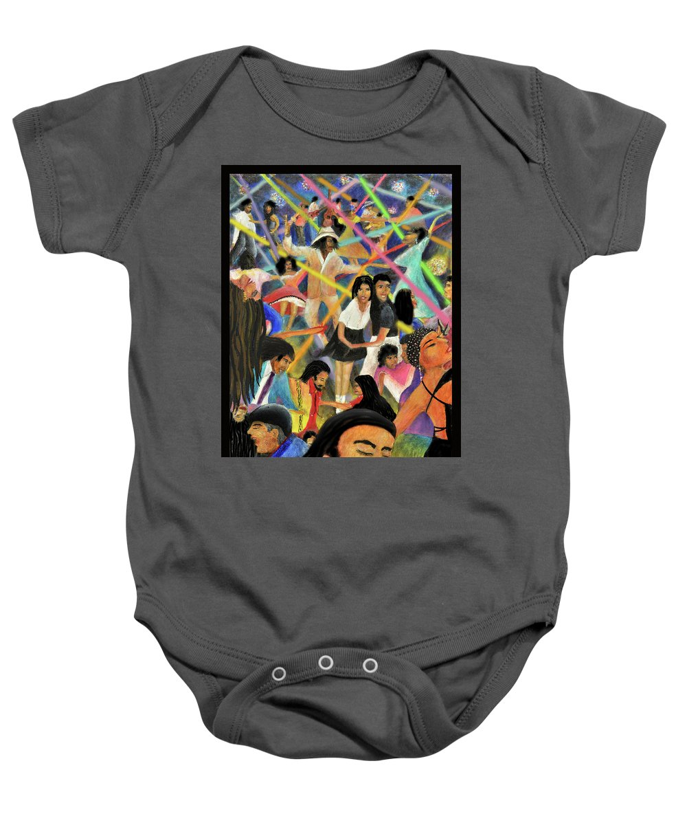 Hispanic Baby Onesie featuring the digital art La Bamba by Larry Rice