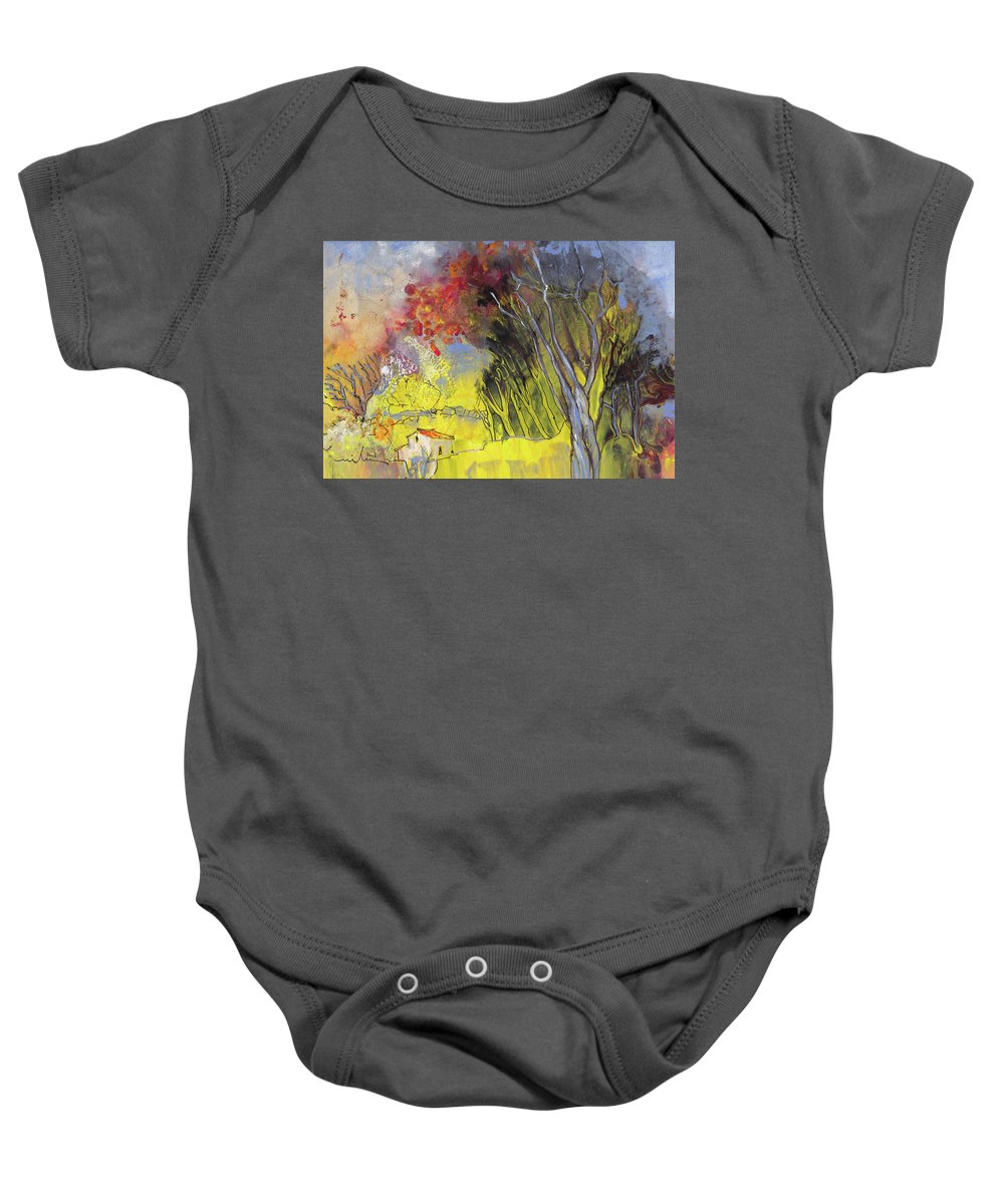 Landscapes Baby Onesie featuring the painting La Provence 26 by Miki De Goodaboom