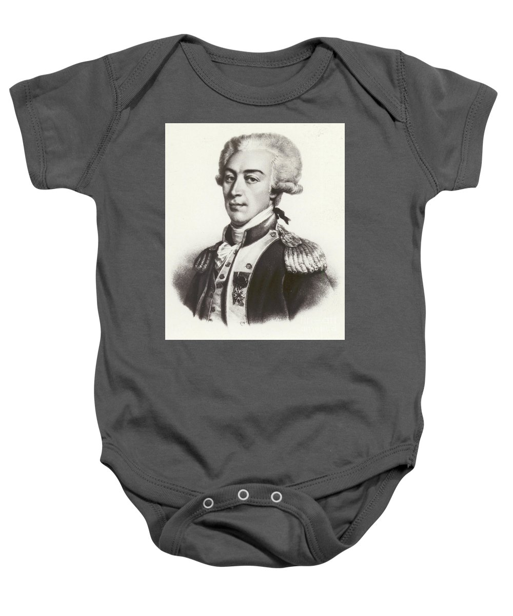 Lafayette Baby Onesie featuring the drawing Lafayette by French School