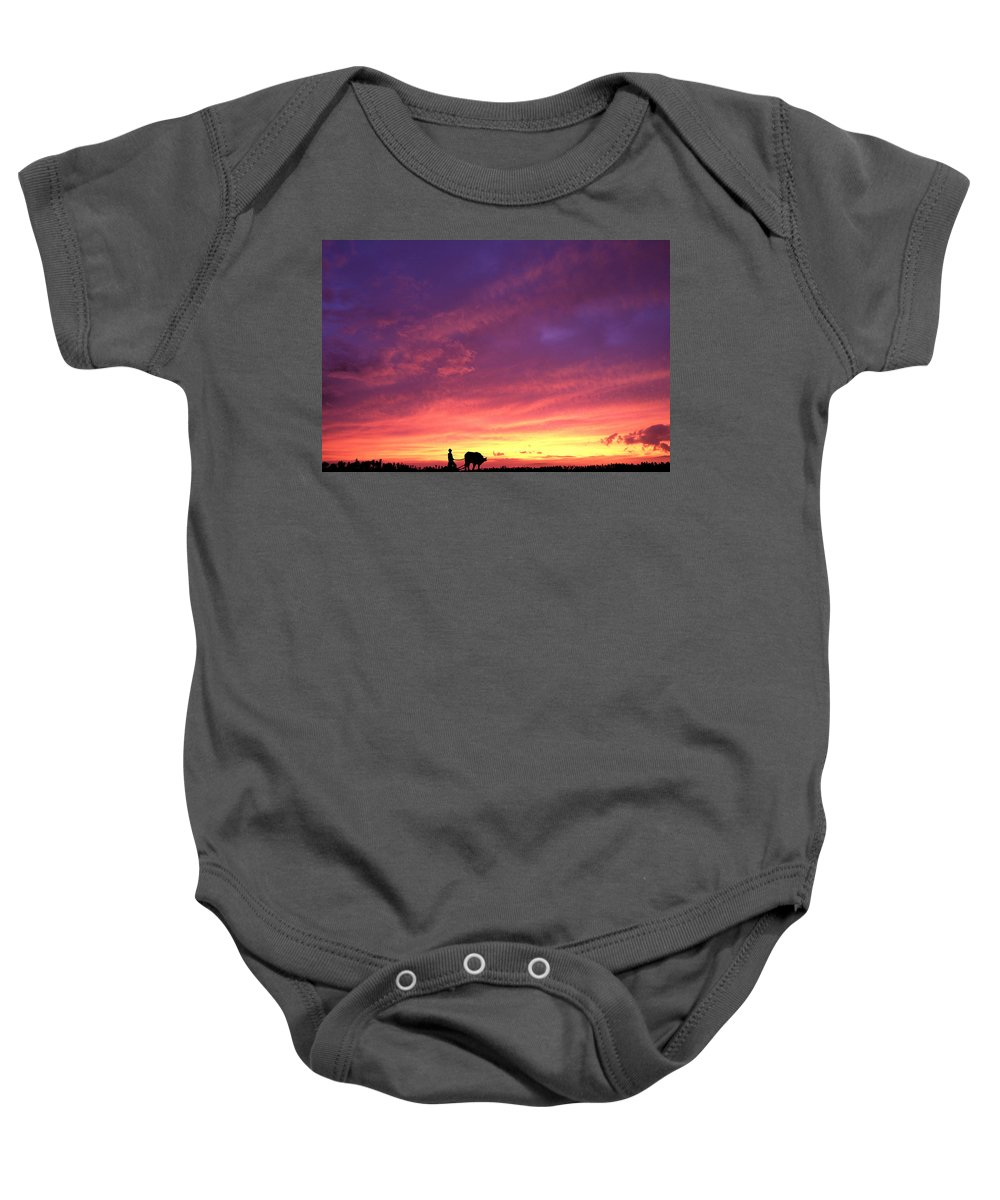Sunset Baby Onesie featuring the photograph Laguna Sunset by George Cabig