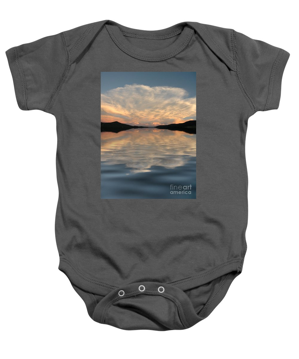 Water Baby Onesie featuring the photograph Lake Front Sunset by Jerry McElroy
