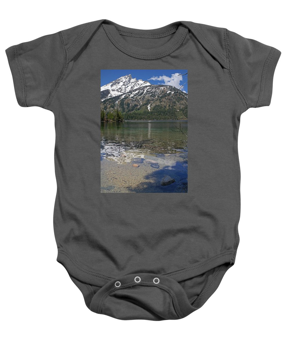 Grand Tetons Baby Onesie featuring the photograph Lake Jenny Grand Tetons by Heather Coen