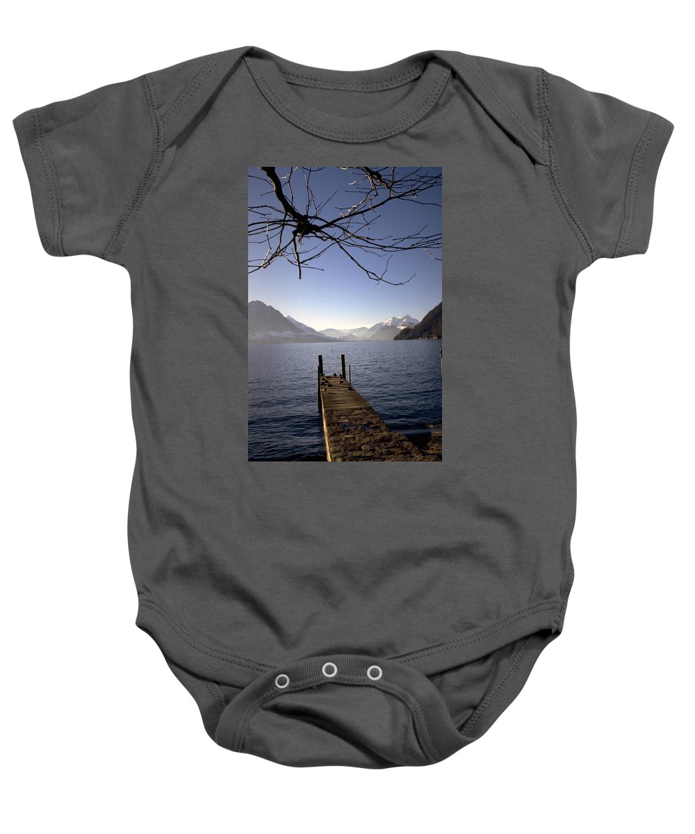 Lake Lucerne Baby Onesie featuring the photograph Lake Lucerne by Flavia Westerwelle