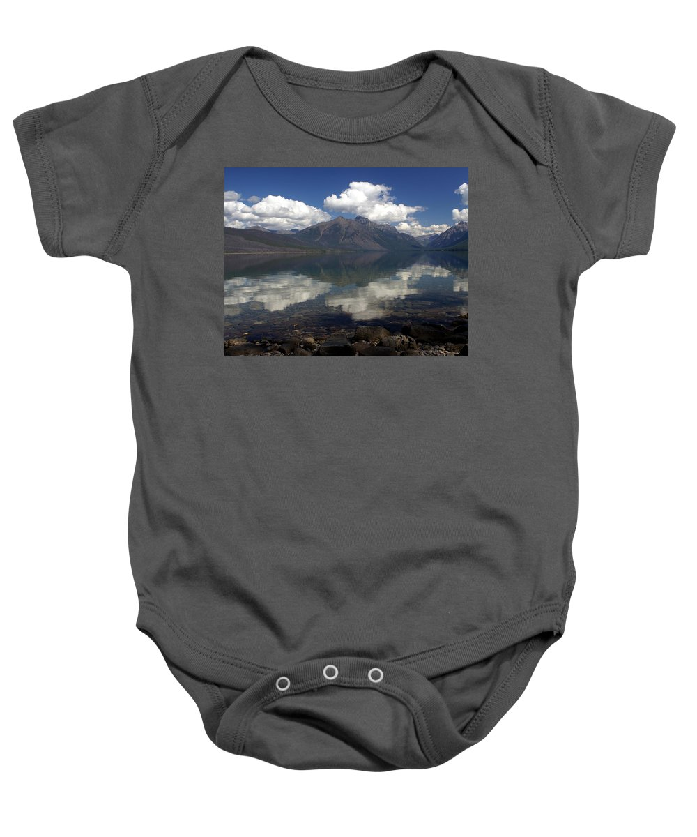 Glacier National Park Baby Onesie featuring the photograph Lake Mcdonald Reflection Glacier National Park by Marty Koch