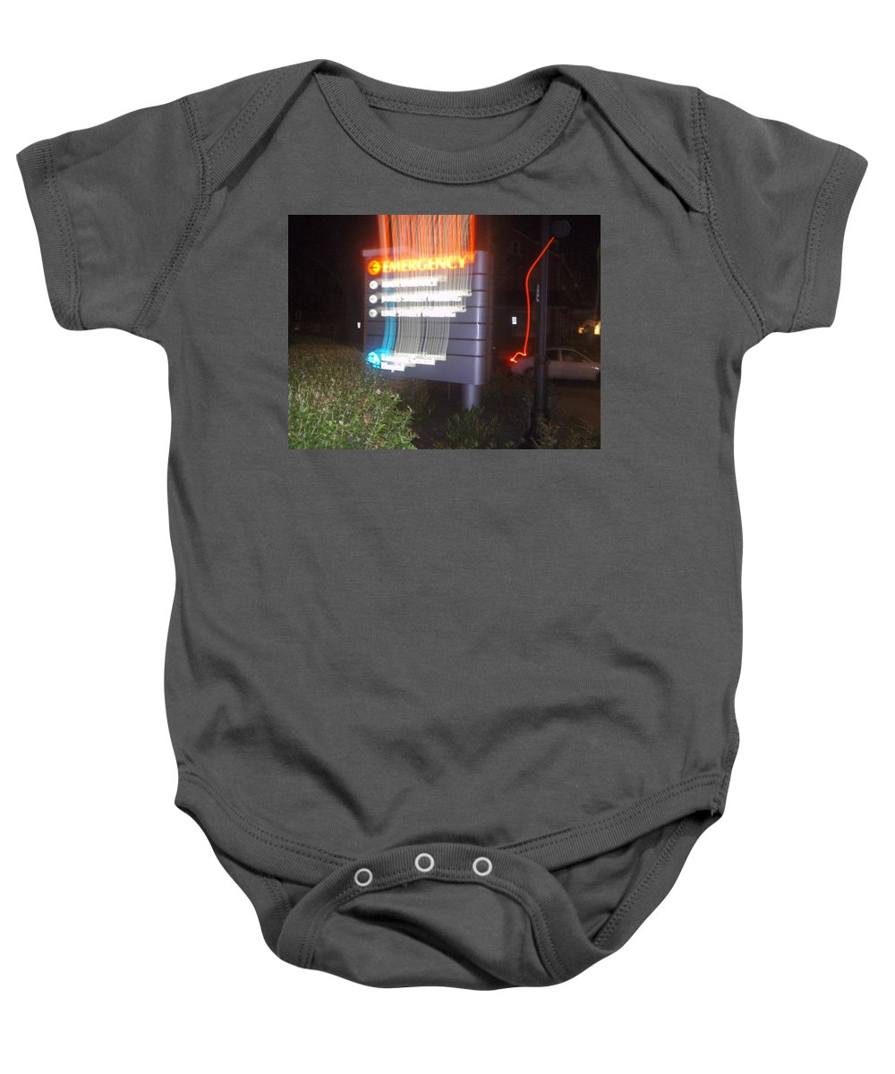 Photograph Baby Onesie featuring the photograph Lancaster Genral Emergency Room by Thomas Valentine