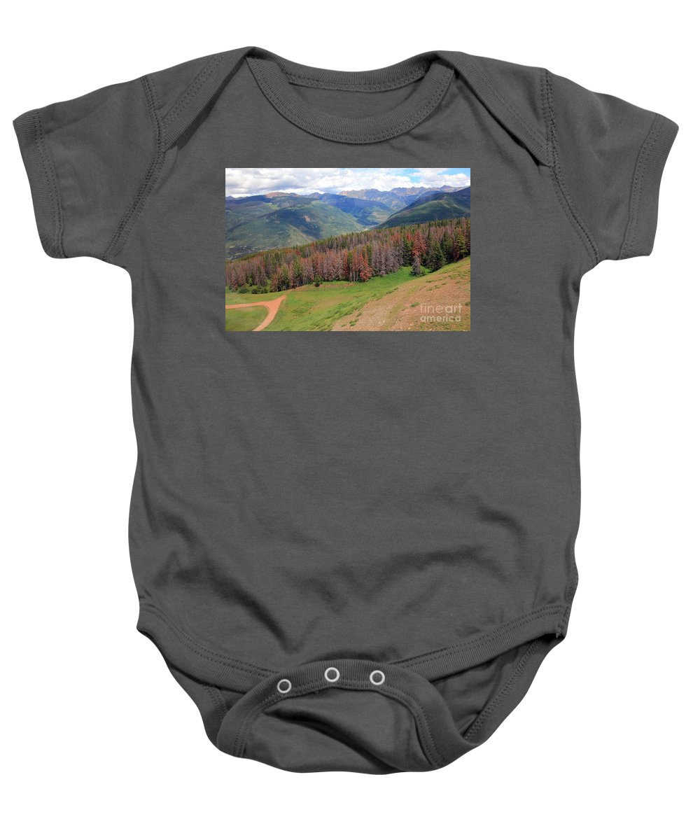 Trees Baby Onesie featuring the photograph Landscape In Vail by Madeline Ellis
